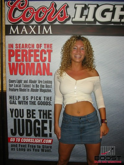 Sexy Coors Light Maxim Girl Search she was in Playboy