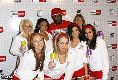 50 Cent with Sexy Promotional Models