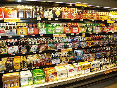 Beer Cooler at a grocery store