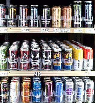 Energy Drink Cooler Door at C-Store