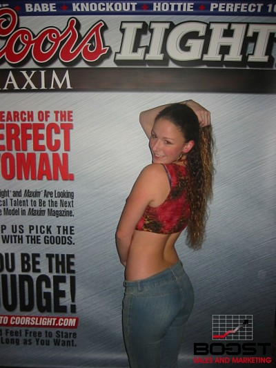 Sexy Coors Light Maxim Girl Search trade show girls