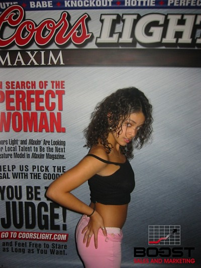 Sexy Coors Light Maxim Girls go wild and get topless