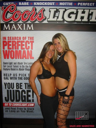 Hot Beer Babes trying out to become the next Coors Light maxim Cover Girl