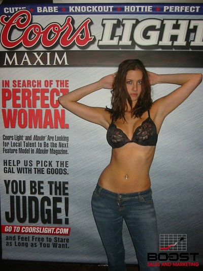 Sexy Young Girl with a nice ass tried out for the Coors Light Maxim Girl Search