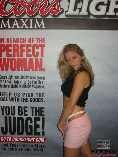 Sexy CoorsLight Maxim Model wants to be in maxim magazine