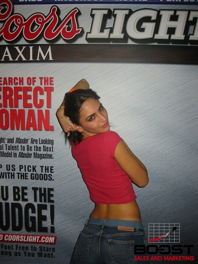Sexy Argentinian Coors Light Maxim Girl Search wanting to become the next coors light model - she has a sexy ass with curves
