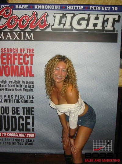 Sexy Coors Light Promo Girl Search