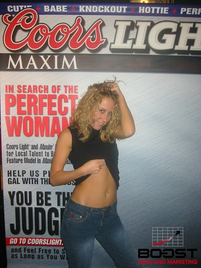 Sexy Coors Light Maxim Girl Search from nyack new york - working for boost sales and marketing model conducting a coorslight maxim model search