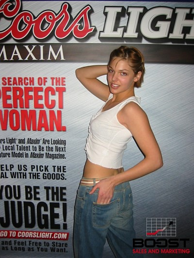 Sexy Coors Light Maxim Girl Search and promo girls