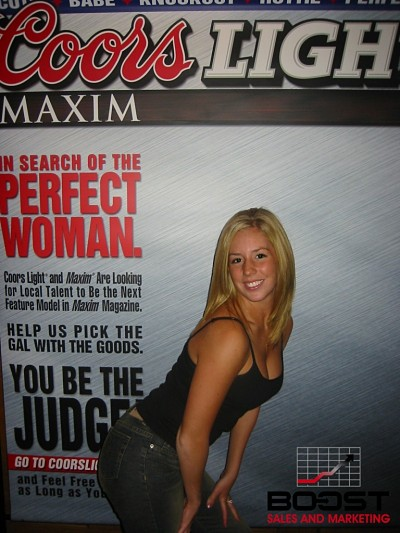 Sexy Coors Light Maxim Girl Search Promo girls