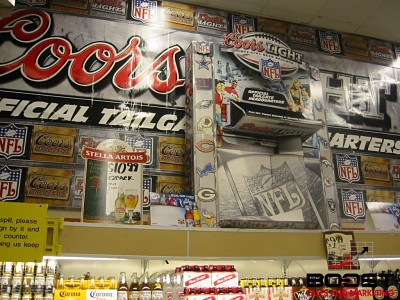 Coors light football POS signage