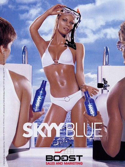 beverage print model skyy vodka