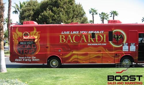 Bacardi Live Travel Bus