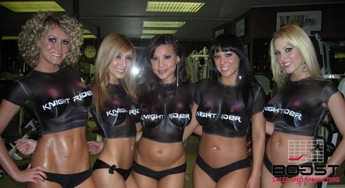 Sexy Promotional models wearing body paint