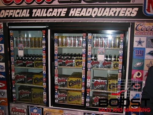 Full Cooler Door or Coors Light Beer