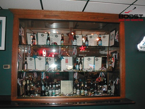 Coors awards on display at the brewery