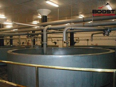 coors barley is being soaked at the coors brewery in the kiln