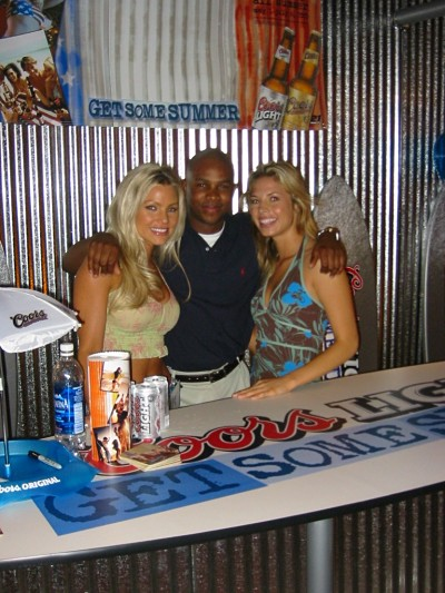 Coors light spokesmodels with Paul Gage the owner of Boost Sales and Marketing,LLC