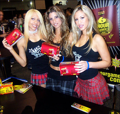 Sexy Promotional Models selling energy drinks