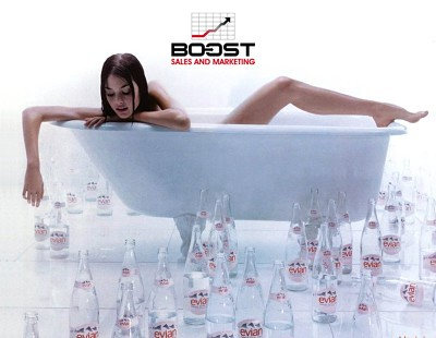 Evian Beverage Poster Model