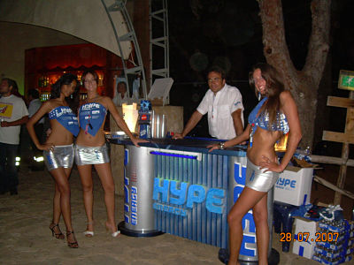 Hype Energy Drink Promotional Models