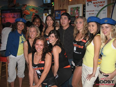 Sexy Miller lite girls with the hooter girls of santa monica