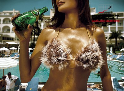 Perrier Bikini Poster Beverage Model