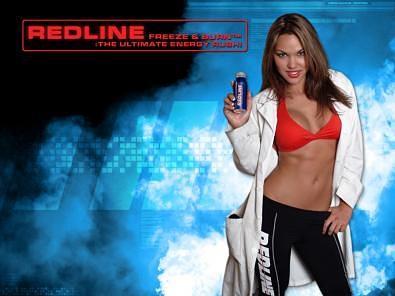 Redline Energy Drink Sexy Model