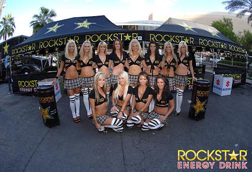 Rockstar energy drink beverage models working