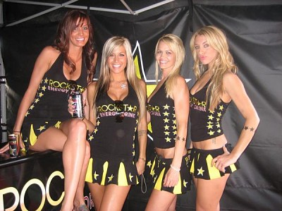 Sexy Rockstar Energy Drink Promotional Models