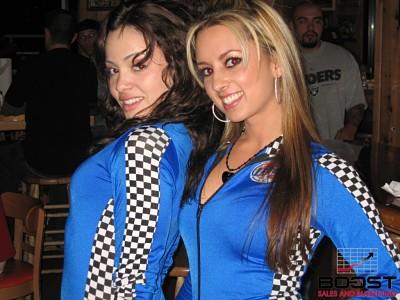 Sexy Miller lite girls wearing racing uniforms