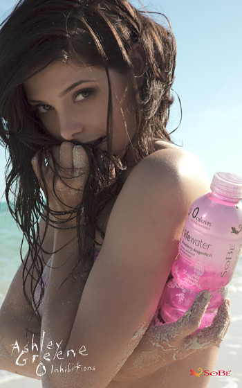 Sexy Beverage Model Ashley Green