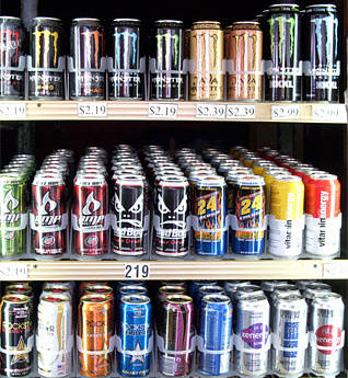 Energy Drink Cooler Door at C-Store