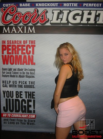 this white girl has an ass she followed me everywhere Sexy Coors Light Maxim Girl Search