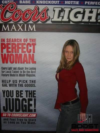 Sexy Amateur girl showing her boob while trying out to become the next Coors Light Maxim Girl Model - does she have what it takes to become the next maxim magazine model - What do you think?