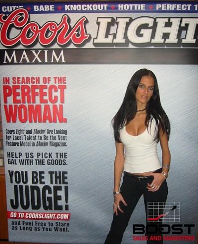 Coors Light Maxim Girl