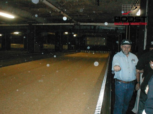 Images of coors drying the barley before the malting process