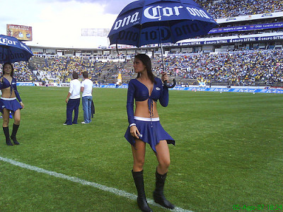 2 latina sexy beer girls promoting corona beer with guys taking pictures of their upskirts- cameltoes