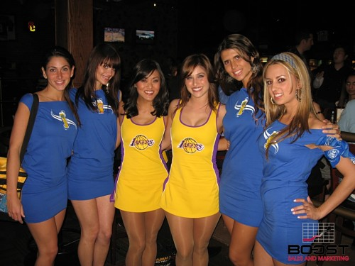 Miller Girls with Laker Girls