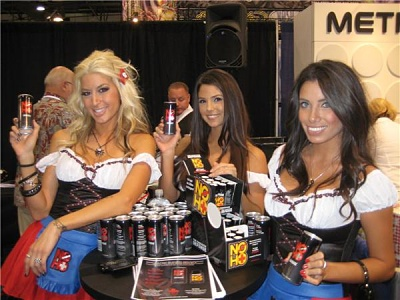 No Ho Anti Hangover drink tradeshow models