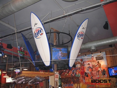 Boost Beer Sales with a Miller lite surfboards in hooters