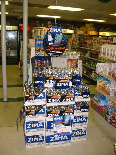 Zima Drink Display